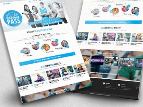 BlueFit Health club Web Design